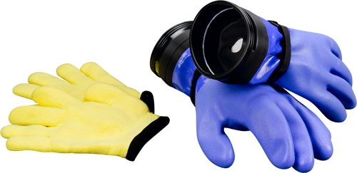 DUI Blue Dry Gloves w. zip (heavy duty)
